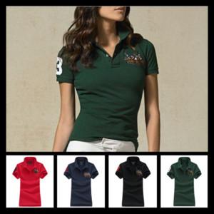Fmasuth Polo Kadınlar Gömlek Kısa Kol Aşağı Tişört Baskı CAMISAS Polo de Marca Mujer Kadınlar Top çevirin