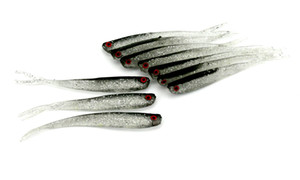 HENGJIA Soft Fishing Lure Tiddler Baits 100Pcs 100mm 4g Lures Fishing Tackle Rubber Fishing Bait With 3d Lifelike Eyes