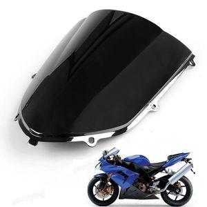 1 Unids Nueva Motocicleta Doble Burbuja Parabrisas Carenado Parabrisas Lente ABS para Kawasaki Ninja ZX10R 2004-2005