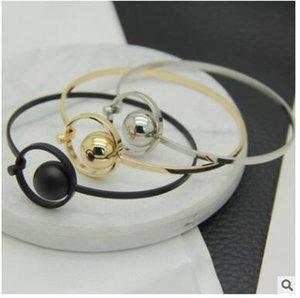 Новый простой любовь узел открытый браслет Браслет хорошее качество меди двойной круг браслет регулируемые браслеты три стиля