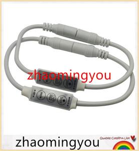 100 unids dc12v 24v 6a 3 teclas mini led regulador de intensidad con conector hembra hembra DC para controlar un solo color led iluminación de tira