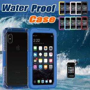 Custodia impermeabile Protezione completa Subacquea Copertura antiurto per nuoto antiurto per iPhone X 8 7 Plus 6 6S Samsung Note 8 S8 S7 Edge