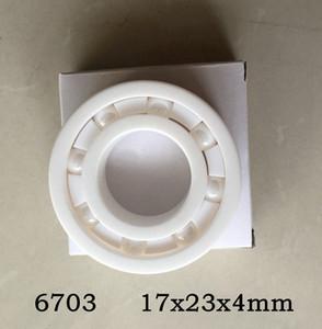 10 pcs 6703 completa rolamento de esferas de Cerâmica 17x23x4mm Zirconia ZrO2 rolamentos 17 * 23 * 4mm