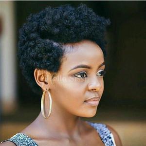 Parrucche strette Afro Kinky ricci Celebrity taglio corto bob con capelli del bambino glueless vergini brasiliane parrucche piene del merletto dei capelli umani