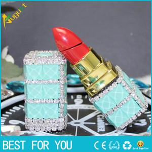 Rouge à lèvres en forme de briquet briquet rechargeable briquets à gaz torche offre également usb coupe-vent briquet meuleuse