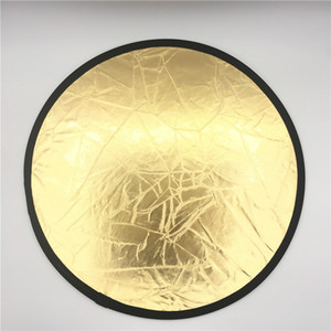 "23.6 ""/ 60cm Handhold 멀티 Collapsible 휴대용 디스크 빛 반사판 사진 2in1 금색과 은색"