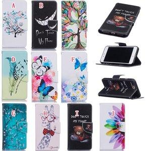 Per Iphone 11 PRO MAX X XS XR 8 Stand scheda Non toccare la mia copertina del fumetto della cassa del telefono 7 6 Huawei Honor Mate 8 5A Y3 Y5 II Fiore Portafoglio in pelle