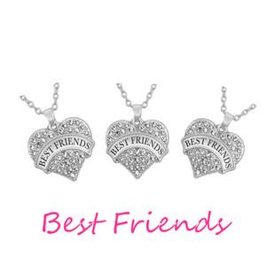 Klare Strass Herz Anhänger bester Freund Freundschaft Halskette für 3 Stück ich liebe dich mehr Halskette liebe dich