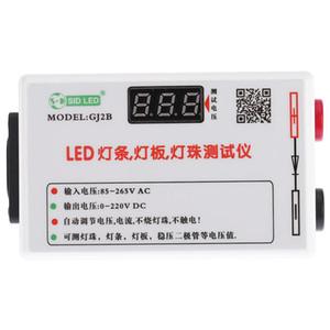Freeshipping Portátil LED Faixa de Luz Da Lâmpada Painel Regulado Talão Tensão Regulado Diodo Tester Medidor Voltímetro Ajuste Automático AC85-265V DC0-220V