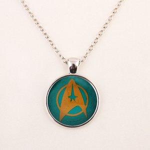 2015 Nouveau Mode Star Trek Collier Star Trek Pendentif Science Médical ou Opérations Pendentif Dôme En Verre Collier