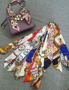 scraf Taschen Griff Dame Hochzeit Muffler Frankreich AU Mappengeldbeutel Seide Nachahmung Handtasche Frauentasche Paris Schulter US EUR Tote Gepäck