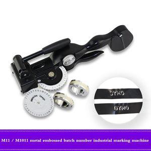 Etichettatrice manuale Dymo m-1011 M-11 numero di lotto in metallo per incisione industriale macchina da scrivere per incisioni a nastro