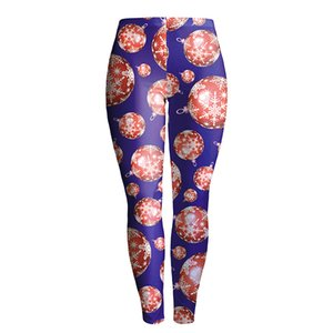 Al por mayor-Nueva llegada Sexy Girl Christmas Style 3D Leggings impresos mujeres Gym Pencil Pants Elastic Fitness Workout poliéster legging # s018