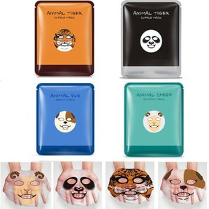 BIOAQUA Skin Care Schaf / Panda / Hund / Tiger Vier Arten Optionale Gesichtsmaske Feuchtigkeitsspendende Ölkontrolle Niedliche Tiergesichtsmasken