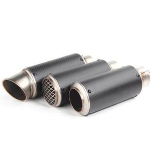 TKOSM 51mm 61mm Universel Silencieux D'échappement De Moto Modifié SC Silencieux En Acier Inoxydable Fibre De Carbone Adapté à La Plus De Moto