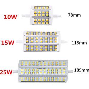 R7S LED 10W 12W 15W 20W 5050 Lampadina del cereale 78 millimetri 118 millimetri 189 millimetri LED R7S lampadina di Dimmable 5050 Corn lampada alogena Proiettore Sostituire 85V-265V