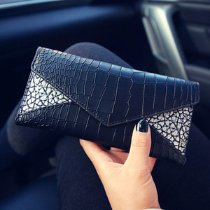 2017 hot sale Women's Fashion Card Holders pu Leather Flap long Wallets Female Purses Card Holder Coin Pouch discount free shipping