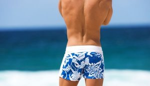 Wholesale-New 2016 Free Shipping!!-Mens Board Shorts Men Beachwear Sexy Beach Pants Blue