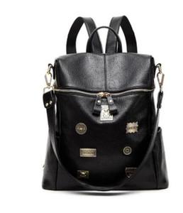 Marke 2017 Frauen Messenger Umhängetasche Vintage Hohe Qualität Umhängetaschen Casual Solide Zipper 4 Arten Mode Rucksack Stil