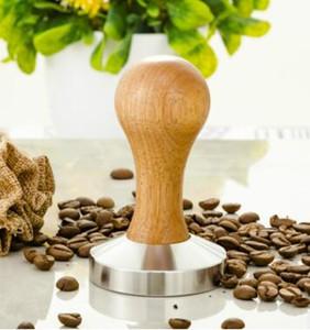 Кофе эспрессо Шпалоподбойка деревянная ручка кофе Шпалоподбойка 58мм давление кофе порошок молоток давление бар
