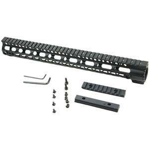 새로운 15 인치 AR-15 / M16 KeyMod 시리즈 원피스 프리 플로트 핸드 가드