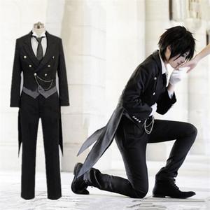 Новый черный дворецкий Kuroshitsuji Себастьян Михаэлис Косплей Костюм Черный равномерный наряд Хэллоуин костюмы для женщин Мужские карнавальные Disfraces