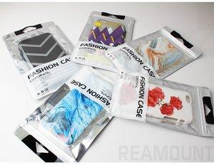 Il marchio su misura vendita al dettaglio di plastica Zipper confezione sacchetto in alluminio Borsa per iPhone Samsung Cell Phone sacchetto filtro di pacchetto
