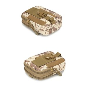 Universal Outdoor Tactical Holster Military MOLLE Hip Waist Belt Bag Wallet Pouch Purse Phone Case with Zipper for iPhone LG HTC