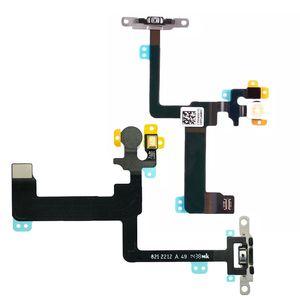 Original Powe Flex für iPhone 6p 6Plus Power-Knopf Schalter-Flexkabel 6 und 5.5 On Off-Band-Mikrofon-Flash-Wohnung mit Metall