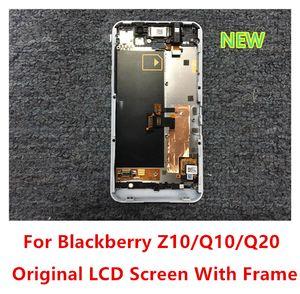 Original novo lcd touch screen digitador com 3d / 4g quadro para blackberry z10 q10 q20 preto branco