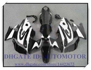 Hochwertiger 100% brandneuer Verkleidungssatz passend für Suzuki GSX600F / 750F 1997-2005 GSX 600F GSX750F 1998 1999 2000 2001 # 38NN7 BLACK WHITE