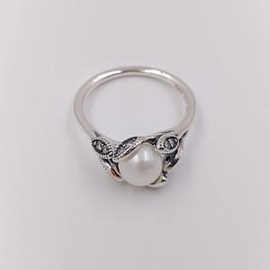 Authentic 925 anillos de plata esterlina hojas luminosa anillo se adapta a la joyería de estilo pandora europeo 190967p