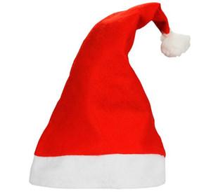 1200pcs Christmas Hat Caps Non-woven Fabric Hat Santa Claus Father Cotton Cap Christmas Gift Hats