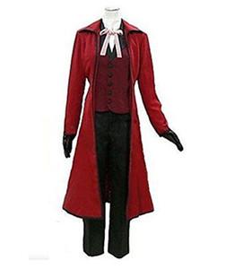 코스프레 Anime 흑인 집사 Grell Sutcliff 재즈 옷감 코스프레 의상