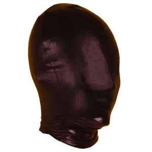 Leder Zurückhaltung # R501 Bondage GIMP Full Mask 2016 Rollenspiel Fetisch Frauen Männer Cosplay Hood EMHBI