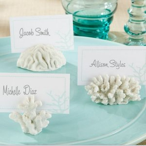 """""""7 개의 바다""""산호 장소 카드 사진 홀더 100PCS / LOT 결혼 파티 사진 프레임"""