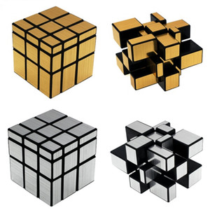 FlyingTown Magic Mirror Cube professionale GoldSilver cubo magico Cast Coated Puzzle Speed Twist learning learning Giocattoli