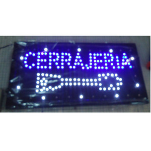 2016 hot sale customed low power 10X19 inch semi-outdoor Ultra Bright running cerrajeria shop led sign wholesale