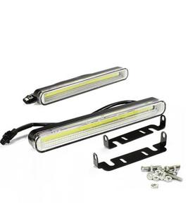 Impermeabile 12W 6000K-7500K COB LED Luci DRL Luce di marcia diurna Luce di marcia automatica per auto universale