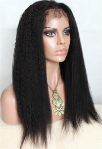 Haar Auf Lager Top Quality100% Dichte Brasilianisches Haar Italienische Yaki Silk Top Glueless Volle Spitze Perücke