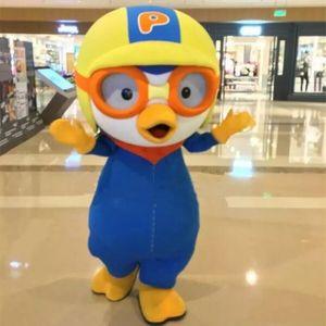 Alta qualidade !!! 2017 Nova Adorável Pororo pinguim traje animal Brand new Adult Mascot Costume fancy dress frete grátis
