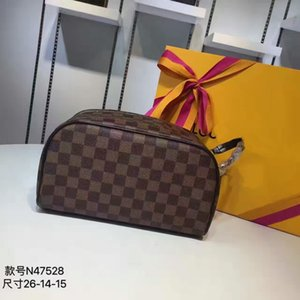 Çanta cüzdan Kozmetik Çantası Hakiki Deri Yukarı Kadın Makyaj Ücretsiz nakliye makyaj çantaları 47528 Yıkama Kılıfları CX119 toz çanta var