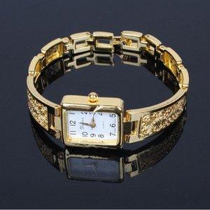 Moda Chaoyada elegante mulheres menina requintado pulseira de quartzo pulseira de aço de Metal de Ouro relógio de pulso 934