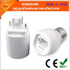 PBT G24q G24 para E27 Lamp Converter Suporte para Lâmpada LED halogênio CFL Lâmpada Luz Adapter E27 para G24
