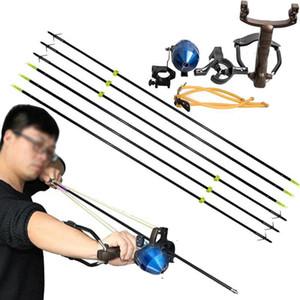 Рыбалка Reel Slingshot Стрельба из лука Slingbow Охота Стрелка Отдых Кисть Functional Терминал съемки Slingshot с черными рыболовными Стрелки