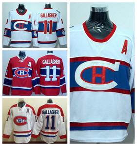Montreal Canadiens Hockey 11Brendan Gallagher maglie Invernali Classic Home Red Alternate White Fashion ricamo e logo cucito