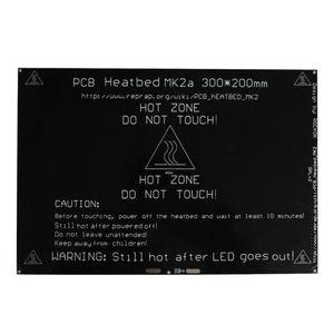 Freeshipping MK2A Isı yatak 300x200x3.0mm 3D Yazıcı Için RAMPS 1.4 PCB Alüminyum Heatbed MK3