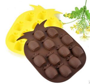 Ananas Eis Tablett Kuchenform Flexible Silikon Seifenform Für Handgemachte Seife Kerze Candy Backworde Backformen Küchenwerkzeuge Eispritzen Eisformen