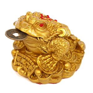 Feng Shui Money Lucky Frog Coin Toad Chan Chu Chinese Charm of Prosperity Home Decoration Gift