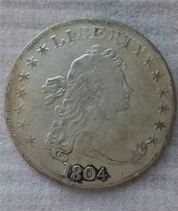 United States Draped Bust Dollar 1804 Coins Copy Archaize Old Looking US Coins Brass Crafts Coins\Whole Sale Free Shipping
